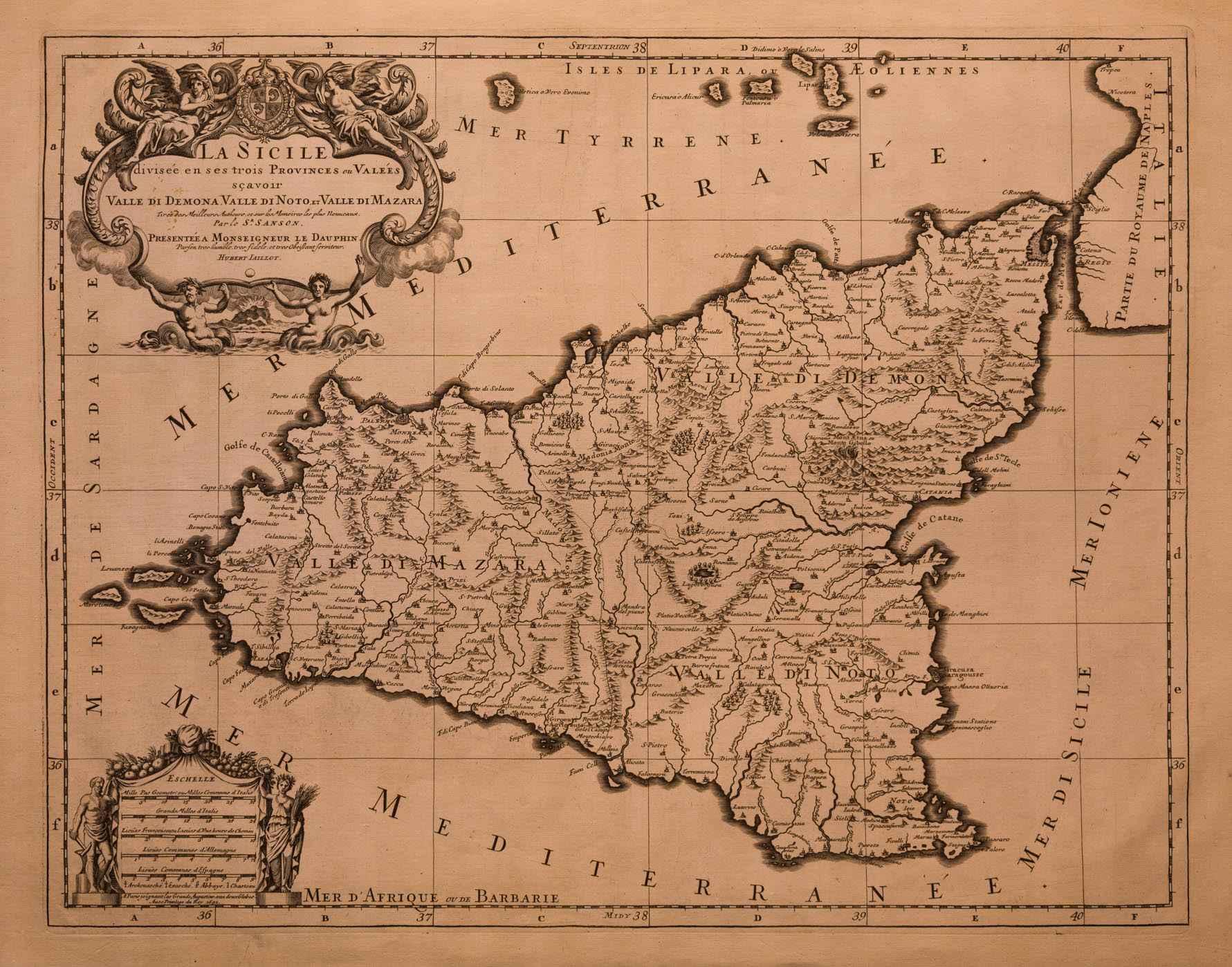 _Mappa Sicilia Sanson 1690